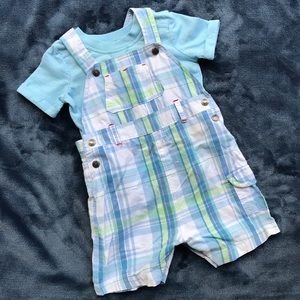 Other - Miniclub Overall With T-Shirt 6-9 Months EUC